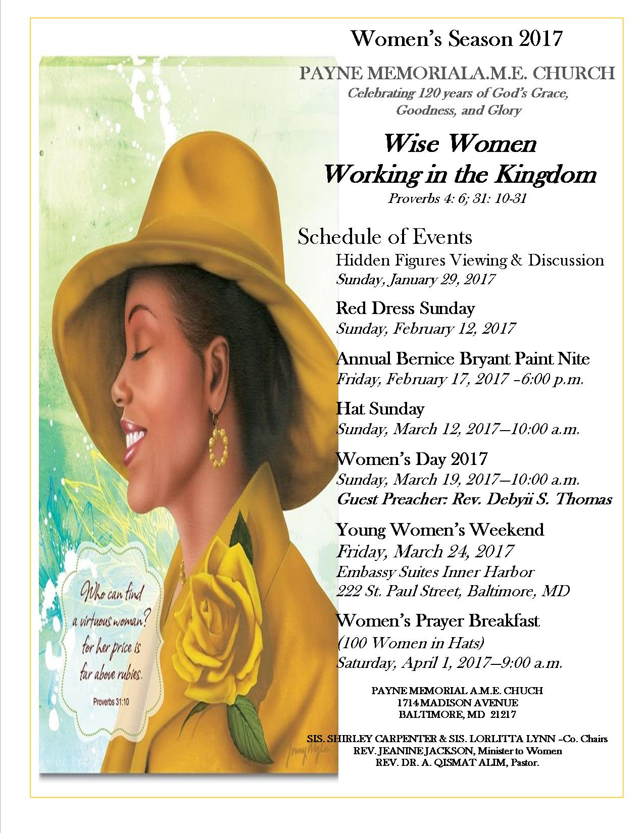 Womens Day Flyer for Bulletin and Board